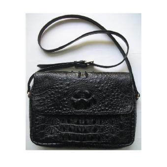 HL6207 - Túi xách da cá sấu Huy Hoàng màu đen