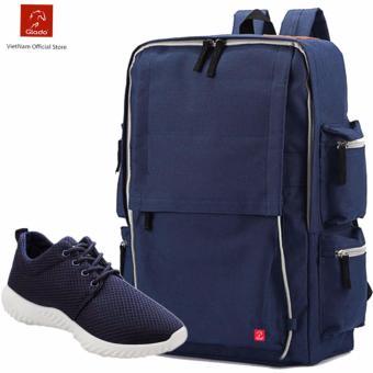 Combo Balo Thời Trang Glado BLG056BU + Giày Sneaker GS062BU (xanh) - CB014