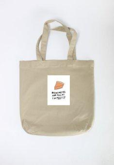 Túi Tote Nữ In Hình Bring Me Pie (Khaki)