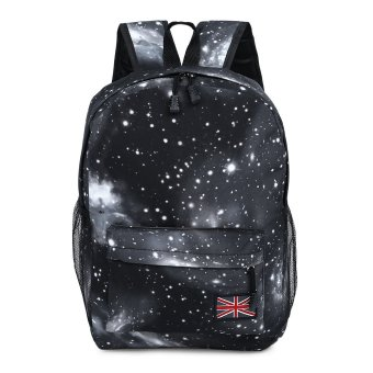 Brilliant Portable Backpack Cosmos Print Unisex School Shopping Travel(Black) --TC