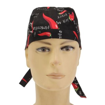 Pirate Skull Cap Chef Hat Professional Catering Various Colourful Waiter Chef Pepper - intl