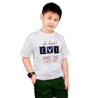 Áo Thun Bé Trai Genii Kids (Trắng)