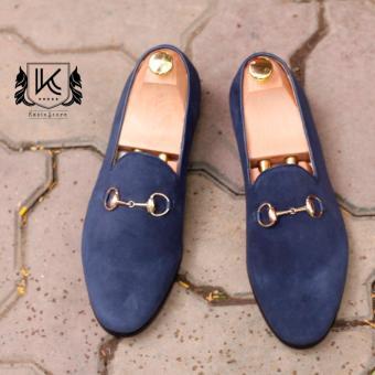 Giày da lộn nam Kazin màu xanh - Thời trang công sở - KZX0050