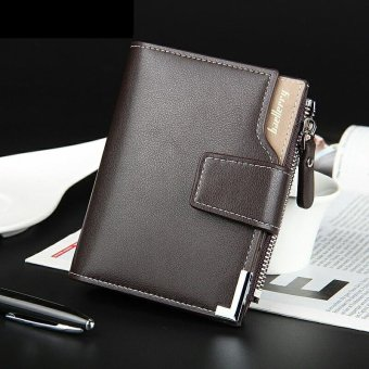Short Wallet PU Leather Men Wallets Dollar Price Bifold Wallet Men Card Holder Coin Purse Pockets with Zipper - intl