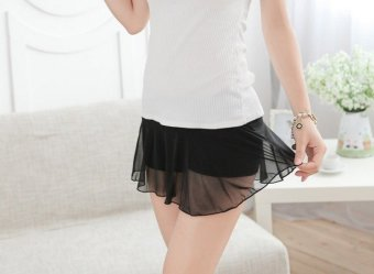 Quần váy nữ mặc trong dáng cách điệu lạ mắt (màu đen)
