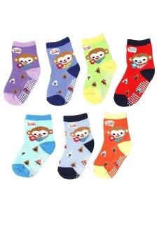 Bộ 7 đôi tất vớ trẻ em từ 5-8 tuổi bé trai SoYoung 7SOCKS 003 5T8 BOY