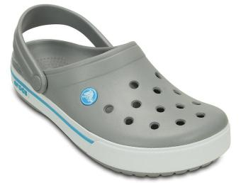 Dép quai ngang nam Crocs Crocband II.5 Clog Light Grey/Electric Blue 12836-0D7 (Xám nhạt)