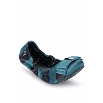 Giày Búp Bê Butterfly Twists Sloan (Bt06004-070) Xanh Sọc Đen