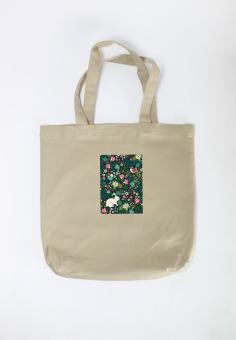 Túi tote nữ Rabbit in Floral Garden Cung Cấp Bởi Suvi (Kaki)