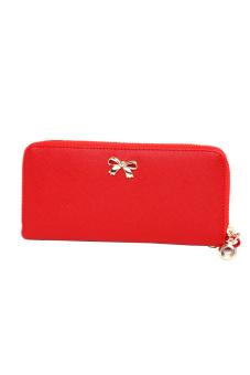 Bowknot Purse Wallet Handbag (Red) - intl