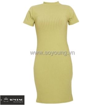 Đầm Ngắn Tay SoYoung DRESS 0061 LTGR.