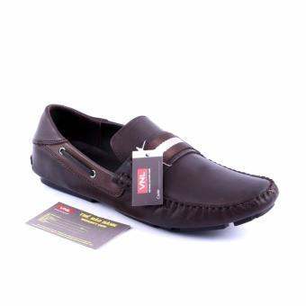 Giày lười nam da thật VNLMOS90A72N-2 (Nâu)