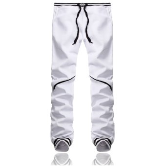 PODOM Men's Harem Casual Baggy Hip Hop Dance Jogger Sweatpants Trousers Slacks White - Intl