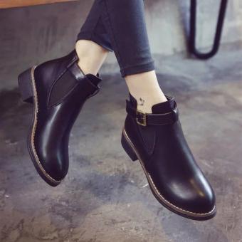 Giày boot Nữ khóa - MSP 2723 (Đen)