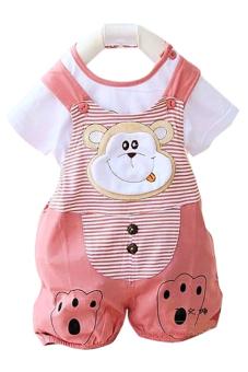 Bộ đồ hình thú có áo phông đi kèm cho bé gái Family Shop BHT02 (Hồng)