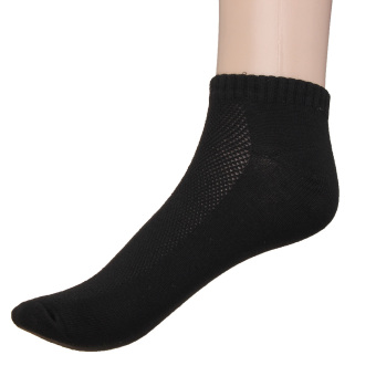 Mens Womens 9-11 10-13 Crew Ankle Cut Sports Socks Black White Gray New - Intl