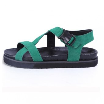 Ankle Strap Sandals Shoes Rome Style Flats Open Toe Casual Summer - intl
