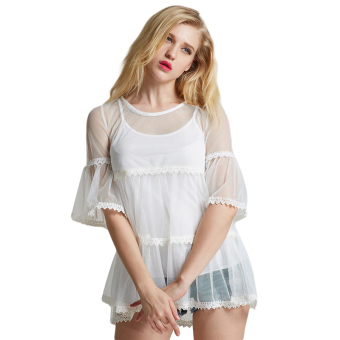 Fancyqube Sweet Lace Shirt Sleeve Sling (White) (Intl)