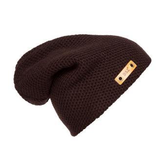 Knit Men's Women's Beanie Winter Hat Ski Slouchy Chic Cap Coffee,,(Intl)