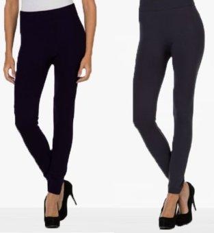 Bộ 2 quần legging nữ Navi(đen-xám đậm)