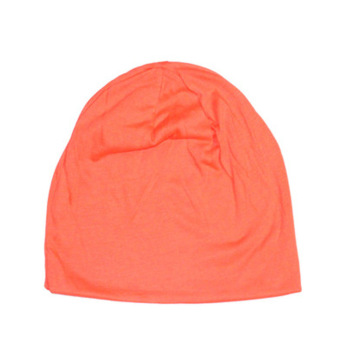 Fancyqube Candy Colored Man Korean Sleeve Head Cap Hip Hop Cap Orange
