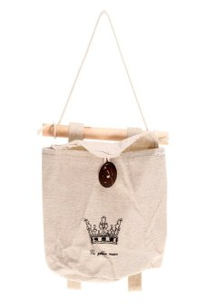 HKS Crown Wall Sundry Fabric Cotton Pocket Hanging Holder Storage Bags Rack - intl