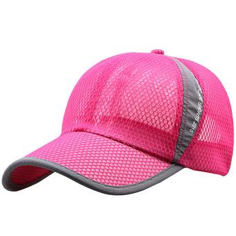 Unisex Summer Outdoor Sport Snapback Baseball Caps Adjustable Mesh Hat Rose