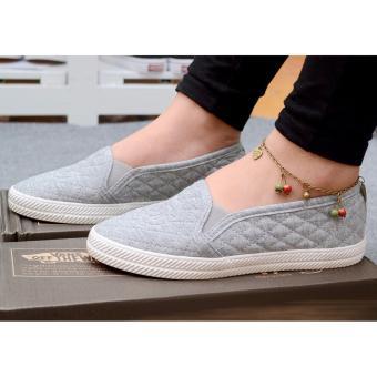 Giày lười nữ trần chỉ móc G-TiLaMi-GG004 (xám)