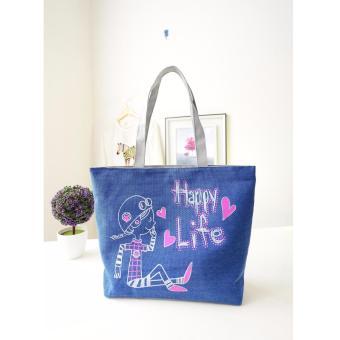 Túi xách tone vải đeo vai SPH-LIFE02(BLUE)