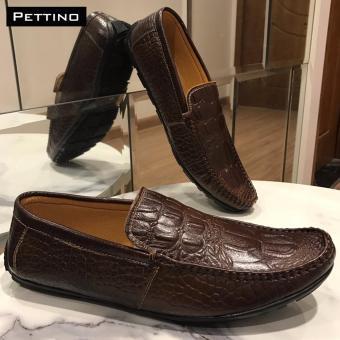 Giày Lười Nam Cao Cấp - Pettino GL.10 (nâu)
