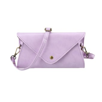 New Fashion Women Shoulder Bag PU Leather V Shape Flap Solid Design Crossbody Messenger Bag - intl