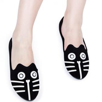 Cute Girls Flats Shoes Cartoon Animal Suede Alpargatas #1 - intl