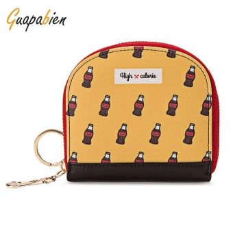 Guapabien Cute Small Item Patterns Mini Wallet Coin Purse for Girls(Yellow) - intl