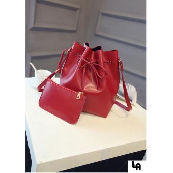 Bộ túi đeo vai nữ kèm ví mẫu đẹp LA Fashion ( Đỏ Sẫm )