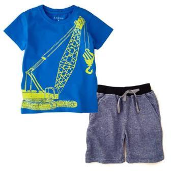 Bộ cần cẩu quần vải xuất bé trai (1-8 tuổi)