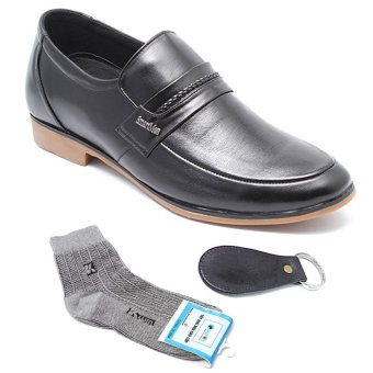 Bộ Giày lười công sở SMARTMEN GL333S và tất khử mùi & đón gót da cao cấp