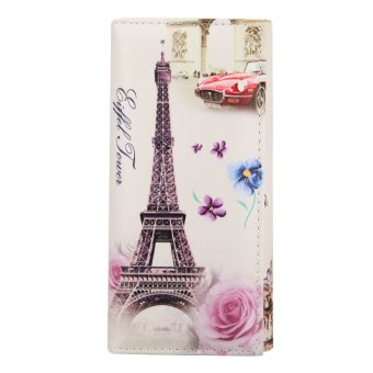 Women Coin Purse ID Credit Card Holder (Tower and Flower) - intl