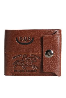 HKS Soft Synthetic Leather Bifold Man Wallet Credit ID Card Holder Purse - intl