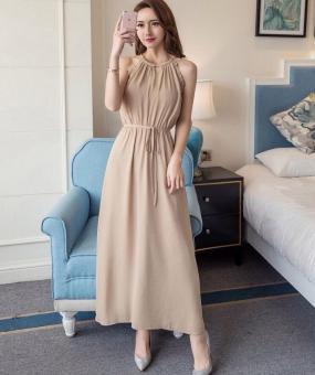 Đầm Maxi Yếm Viền Bèo - B12 Bui Nguyen