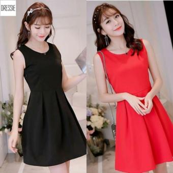 Váy Đầm Xòe Dễ Thương Dạo Phố Hẹn Hò Dự Tiệc DRESSIE - DX0238B (Đỏ)