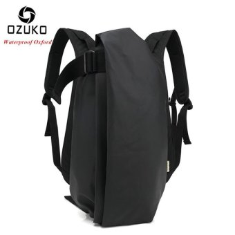 OZUKO Men Backpack Anti-theft Rucksack School Bag Casual Travel Waterproof Backpacks Male Laptop Computer Bag (Waterproof Black) - intl