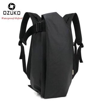OZUKO Men Backpack Anti-theft Rucksack School Bag Casual Travel Waterproof Backpacks Male Laptop Computer Bag (Waterproof Black) - intl