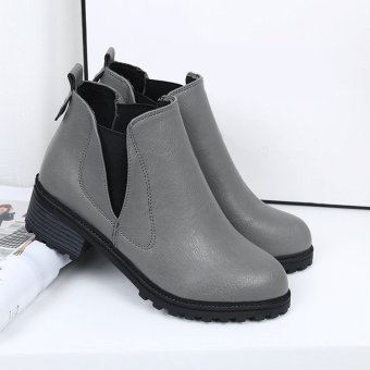 New Women's Winter Ankle Boots Low Heels Fashion Boots Autumn Winter Boots Shoes - intl