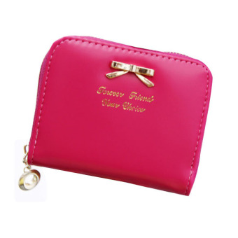 Women Vintage PU Leather Purse Wallet Red (Intl)