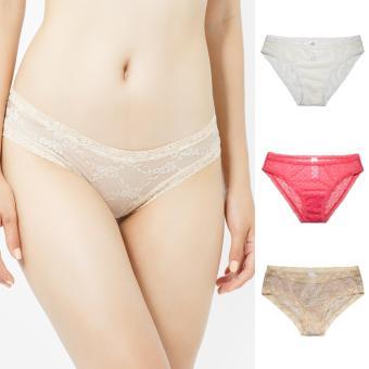 Bộ 3 Quần Lót Ren Bikini Miley Lingerie - FLS-0210-0900-1221
