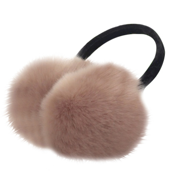 Unisex Women Men Faux Fox Fur Winter Warm Earmuff Earlap Winter Ear Muffs Warmer Muff Khaki - intl