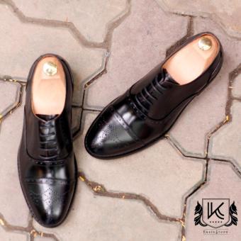 Giày buộc dây nam cao cấp Kazin màu đen - KZD0038