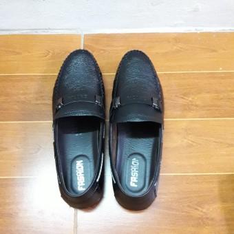 Giày Lười Da Thật Thiết Kế Đơn Giản