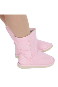 LALANG Chic Ladies Womens Rubber Sole Snow Ankle Boots Winter Warm Flat Casual Shoes - Pink - Intl