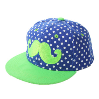 Unisex Kids Adjustable Canvas Beard Hip-Hop Baseball Caps Boys Girls Snapback Hats Sun Cap - Intl